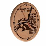 Western Michigan Broncos Laser Engraved Wood Clock