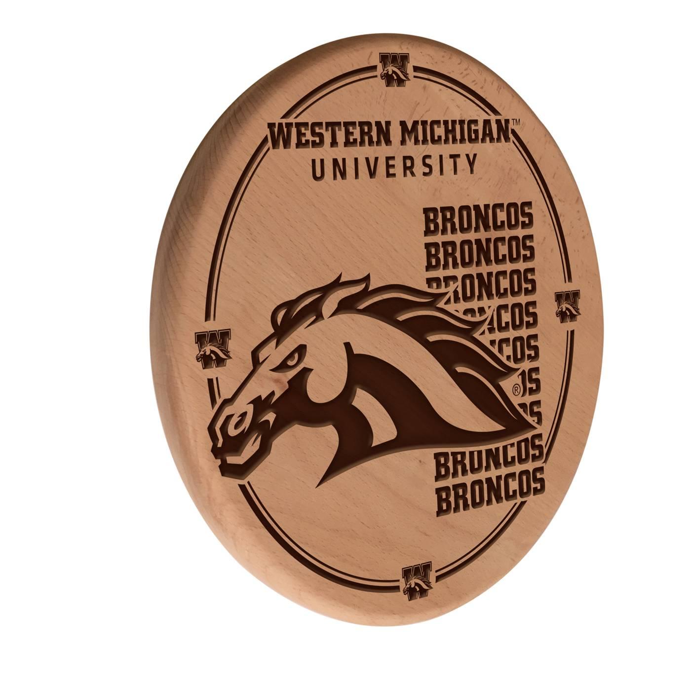 Western Michigan Broncos Laser Engraved Wood Sign
