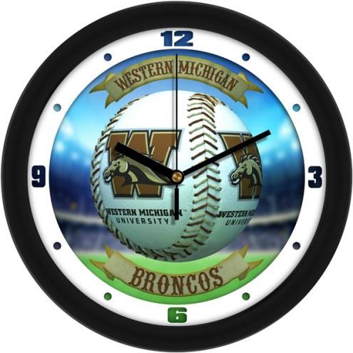 Western Michigan Broncos Home Run Wall Clock