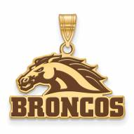 Western Michigan Broncos Sterling Silver Gold Plated Large Pendant
