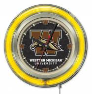 Western Michigan Broncos Neon Clock