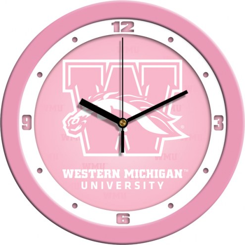 Western Michigan Broncos Pink Wall Clock