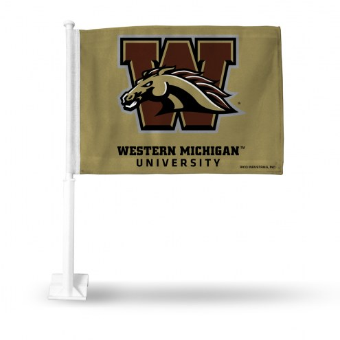 Western Michigan Broncos Car Flag