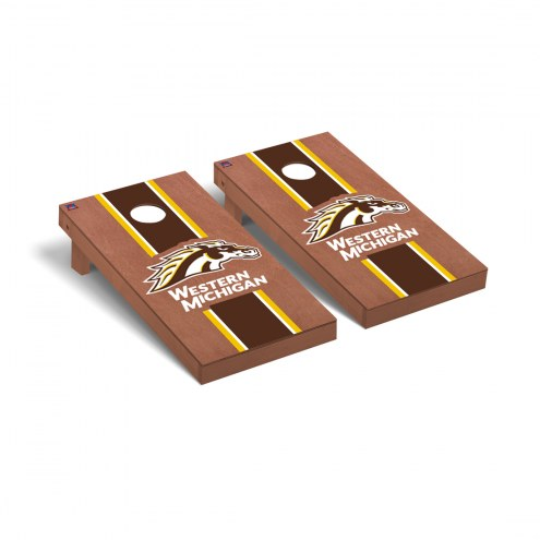 Western Michigan Broncos Rosewood Stained Cornhole Game Set