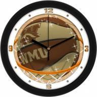 Western Michigan Broncos Slam Dunk Wall Clock
