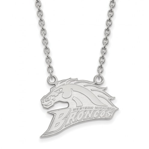 Western Michigan Broncos Sterling Silver Large Pendant Necklace