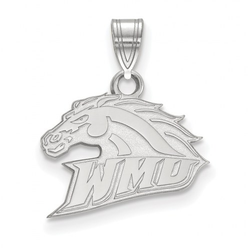Western Michigan Broncos Sterling Silver Small Pendant