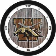 Western Michigan Broncos Weathered Wood Wall Clock
