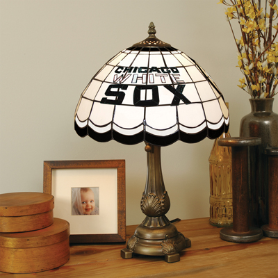Chicago White Sox MLB Stained Glass Table Lamp