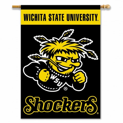 """Wichita State Shockers 28"""" x 40"""" Two-Sided Banner"""