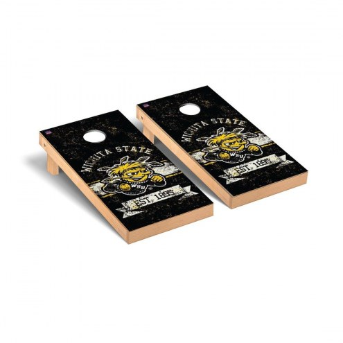 Wichita State Shockers Banner Vintage Cornhole Game Set