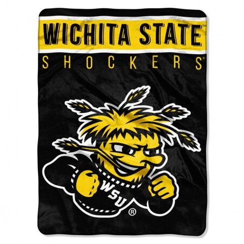 Wichita State Shockers Basic Plush Raschel Blanket