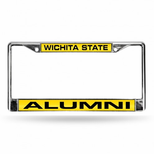 Wichita State Shockers Chrome Alumni License Plate Frame