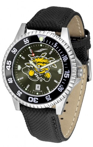Wichita State Shockers Competitor AnoChrome Men's Watch - Color Bezel