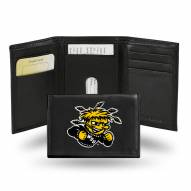 Wichita State Shockers Embroidered Leather Tri-Fold Wallet