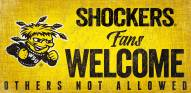 Wichita State Shockers Fans Welcome Wood Sign