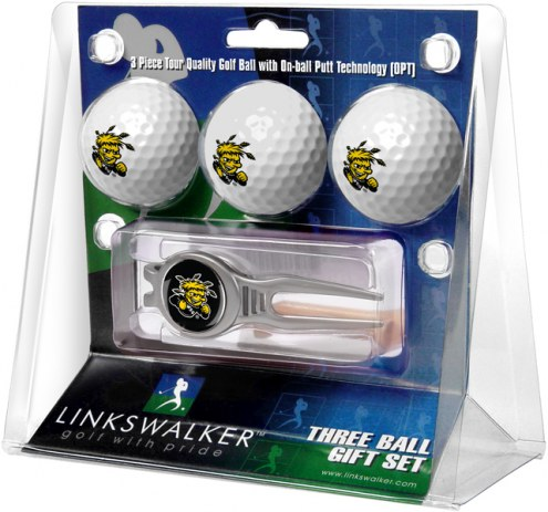 Wichita State Shockers Golf Ball Gift Pack with Kool Tool