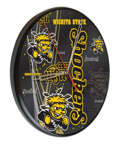 Wichita State Shockers Digitally Printed Wood Clock