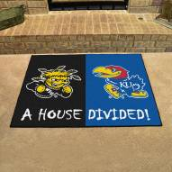 Wichita State Shockers/Kansas Jayhawks House Divided Mat