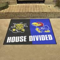 Wichita State Shockers/Kansas Jayhawks House Divided Mat