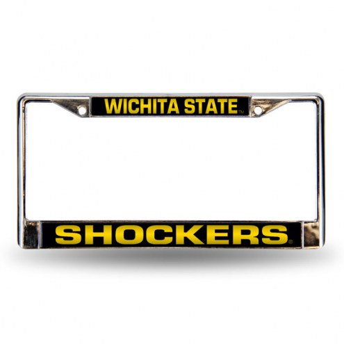 Wichita State Shockers Laser Chrome License Plate Frame