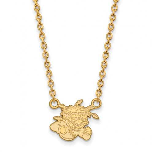 Wichita State Shockers NCAA Sterling Silver Gold Plated Small Pendant Necklace