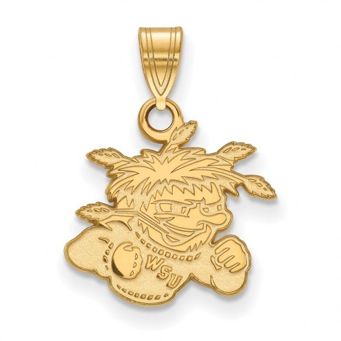 Wichita State Shockers NCAA Sterling Silver Gold Plated Small Pendant
