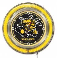Wichita State Shockers Neon Clock