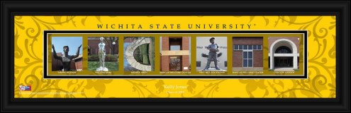 Wichita State Shockers Personalized Campus Letter Art