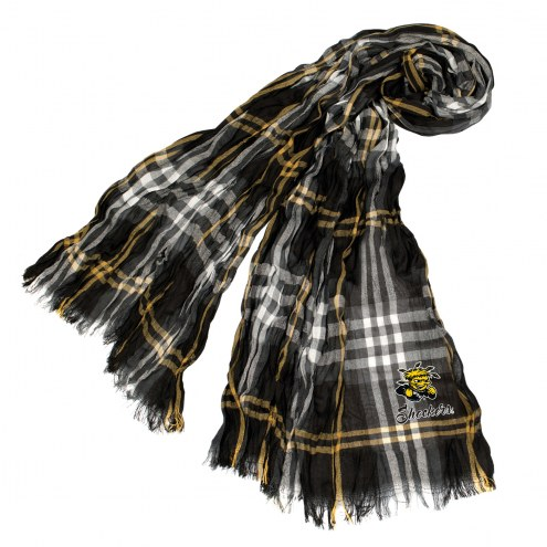 Wichita State Shockers Plaid Crinkle Scarf