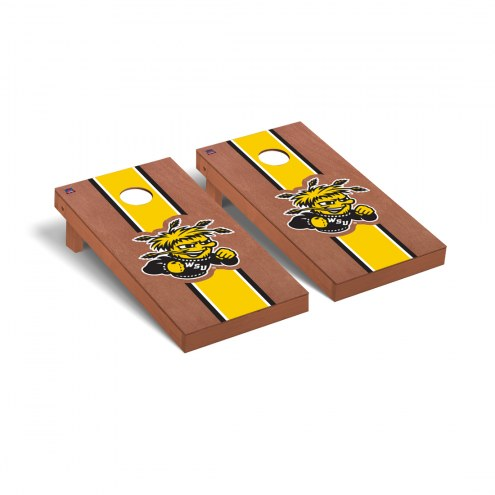 Wichita State Shockers Rosewood Stained Cornhole Game Set