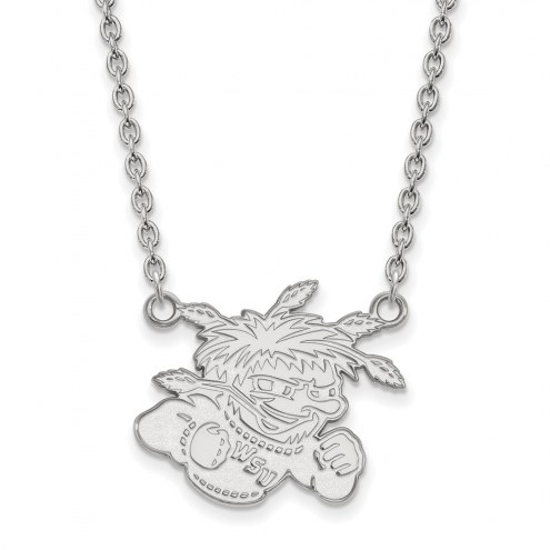Wichita State Shockers Sterling Silver Large Pendant Necklace