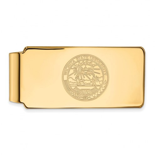 Wichita State Shockers Sterling Silver Gold Plated Crest Money Clip
