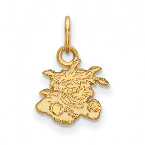 Wichita State Shockers Sterling Silver Gold Plated Extra Small Pendant