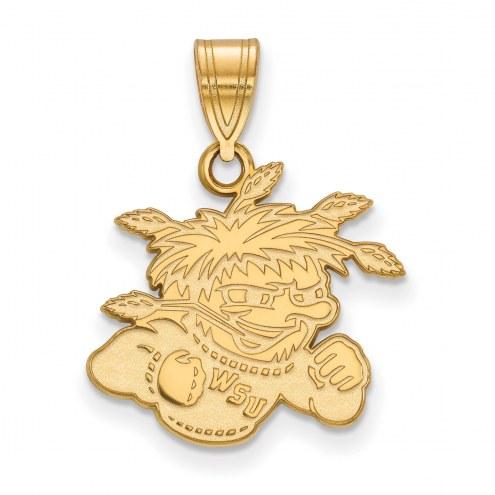 Wichita State Shockers Sterling Silver Gold Plated Medium Pendant