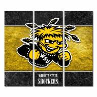 Wichita State Shockers Triptych Double Border Canvas Wall Art