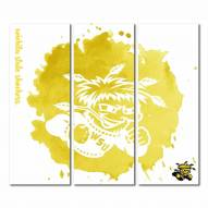 Wichita State Shockers Triptych Watercolor Canvas Wall Art