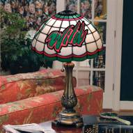 Minnesota Wild NHL Stained Glass Table Lamp