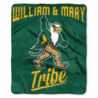 William & Mary Tribe Alumni Raschel Throw Blanket