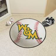 William & Mary Tribe Baseball Rug