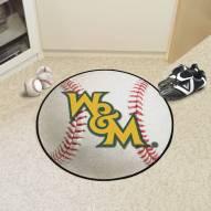 William & Mary Tribe Baseball Rug