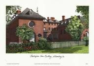William & Mary Tribe Campus Images Lithograph