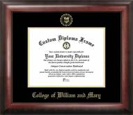 William & Mary Tribe Gold Embossed Diploma Frame