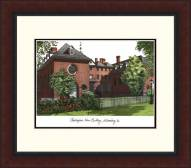 William & Mary Tribe Legacy Alumnus Framed Lithograph