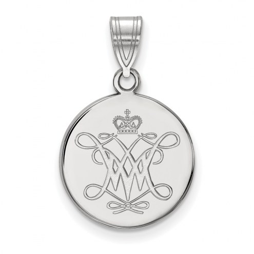 William & Mary Tribe Sterling Silver Medium Disc Pendant