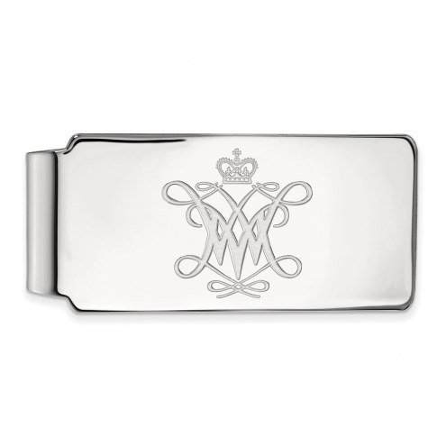 William & Mary Tribe Sterling Silver Money Clip