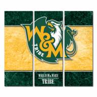 William & Mary Tribe Triptych Double Border Canvas Wall Art