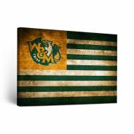 William & Mary Tribe Vintage Flag Canvas Wall Art