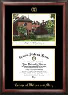 William & Mary Tribe Gold Embossed Diploma Frame with Lithograph