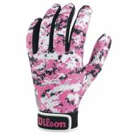 Wilson Pink Camo Youth Football Receiver Gloves
